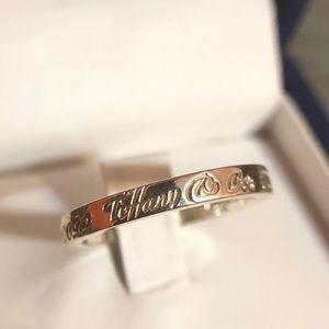 """Tiffany & Co """"NOTES"""" NY 727 fifth Ave NY. 925 ring"""